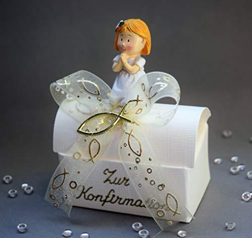Geld Geschenk zur Konfirmation - Geschenkbox Mädchen