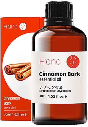 Hana Aceite esencial de corteza de canela, huele a los pasteles de manzana recién horneados (30 ml), de grado terapéutico, 100% puro