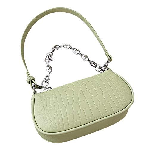 EMVANV Bolso de hombro, pequeño bolso de mano, monederos de cocodrilo con cierre de cremallera, bolso retro de piel sintética para mujer