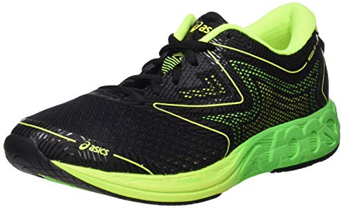 Asics Noosa FF - Laufschuhe Herren T722N-9085 (44, 9085 BLACK/GREEN GECKO/SAFETY YELLOW)