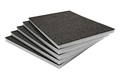 Shadow Foam Easy Peel (600mm x 420mm) - personalisierbarer Schaumstoff für die Organisation von Werkzeugkisten (Fünferpack (30mm tiefe), Schwarz auf weiß)