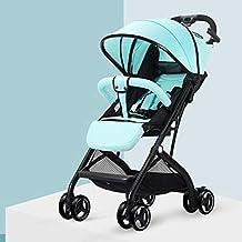 TXTC Ligero Cochecito De Bebé Plegable Compacta, Silla De Paseo De Bebe Niño del Carro De Bebé, Arnés De 5 Puntos Y De Gran Capacidad For El Recorrido De La Cesta De Bebé, IR De Compras