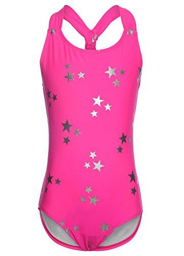 OUO Rosa Badeanzug für Mädchen,Bandage Bademode Süß Drucken Baby Anzug Größe L