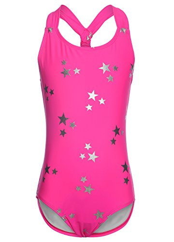 OUO Rosa Badeanzug für Mädchen,Bandage Bademode Süß Drucken Baby Anzug Größe S