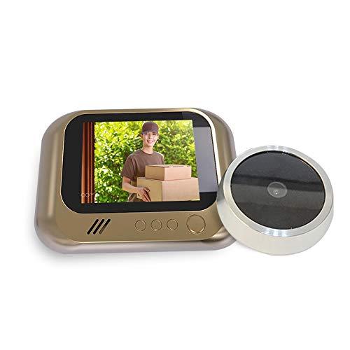 Mini digital foto videoinspelning hemsäkerhetsdörr kikofärkamera tittare PIR nattsyn vidvinkel ingen störning dörrklocka