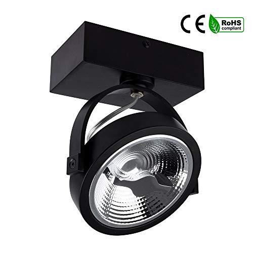 Foco LED CREE de Superficie Direccionable AR111 15W Regulable Negro Tiendas Escaparates (K4000)