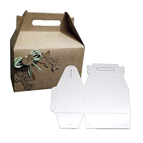 RIsxffp DIY Plantilla de Punch Caja de Regalo de Caramelo Troquelado de Metal Tarjetas de Papel Scrapbooking Silver