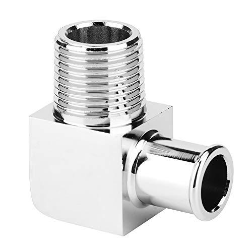 Qiilu Aluminiumlegierung Heizungsschlauchanschluss 90-Grad-Anschluss 1/2in NPT an 5/8in Schlauch Barb