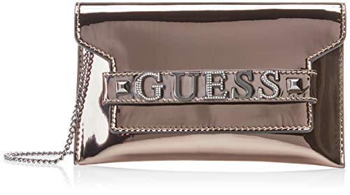 Guess - Summer Night City, Bolsos de mano Mujer, Gris (Pewter/Pew), 25.5x15x1...
