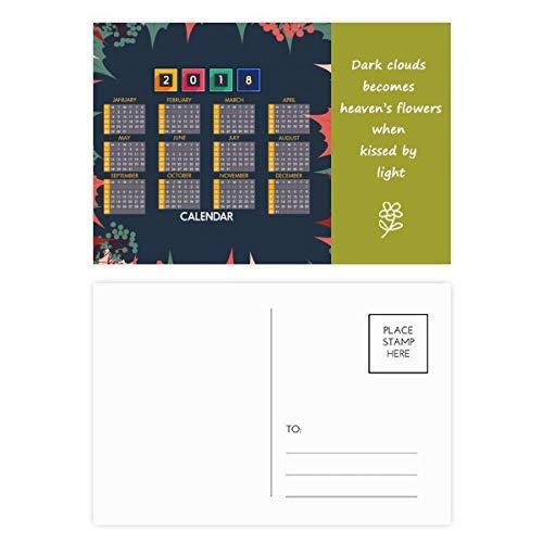 2018 Blätter Obstkalender Muster Poesie Postkarten Set Dankeskarte Mailing Seite 20 Stück