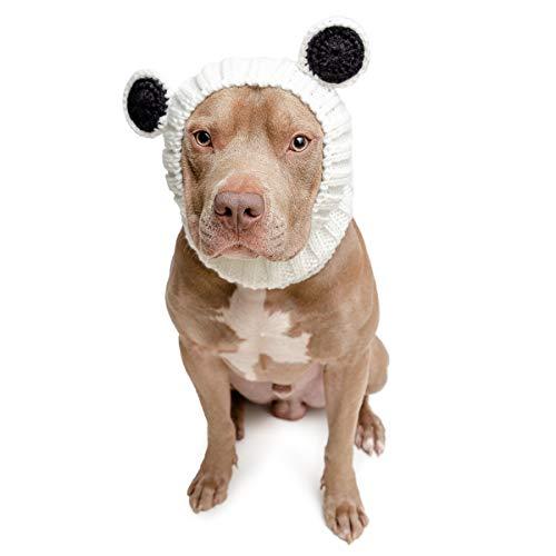 Zoo Snoods Panda Dog Costume - No Flap Ear Wrap Hood for Pets (Large)