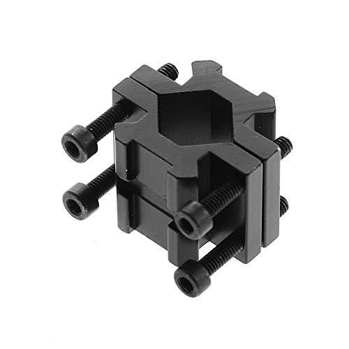 WQ-HUNTING, Accesorios de Caza Riel Doble 20 mm Picatinny tejedor Rail Barrel Adaptador de Montaje para Rifle Bipod Laser Linterna