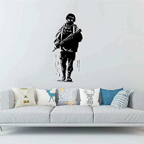 Pegatinas de pared militares art army wall art props soldier silueta náutica familia deportes fitness
