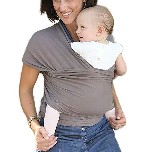 G&F Baby Sling Morbido Cotone Mani Libere Marsupio Neonati Fianchi Sani Adatto Nascita Fino 20 kg (Color : Gray)