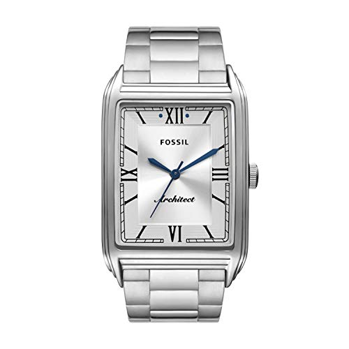 Fossil Men's ARC-03 Quartz Stainless Steel Three-Hand Watch, Color: Silver (Model: FS5804)