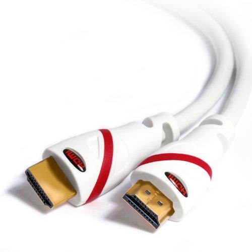 CSL-Computer 1,5m - Ultra HD 4k HDMI Kabel | High Speed with Ethernet | Kabel 3 Fach geschirmt/inkl. Stecker- und Kontaktschirmung | 4K Ultra HD 2160p bei 60 Hz/Full HD 1080p | 3D / ARC/CEC | weiß