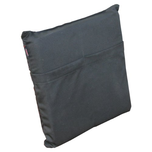 Heat Factory Stadium Cushion with Large Hand and Body Heat Warmer Pockets, Black