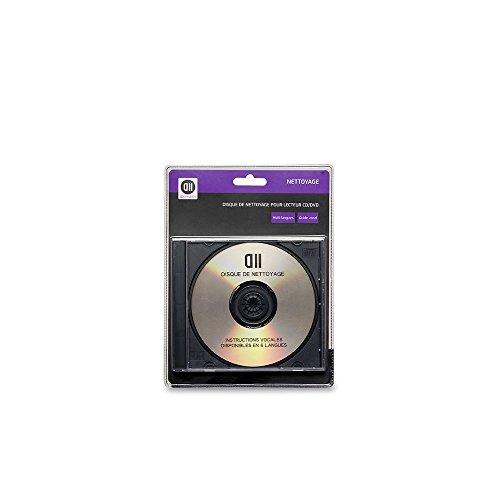 D2 Diffusion D2NETCDDVD - Disco Limpiador para Reproductor de CD/DVD, Color Cromado