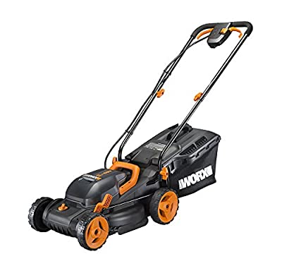 "Worx Cordless 14"" Lawn Mower with Mulching Capabilities and Intellicut"