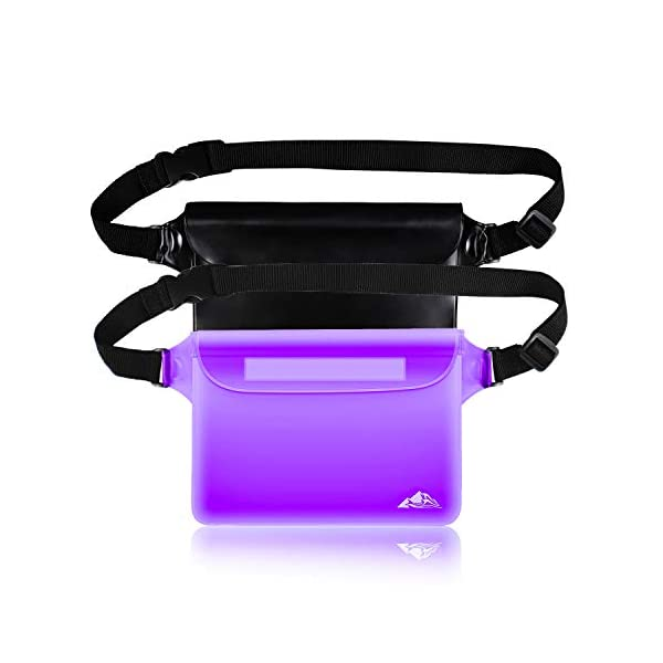 HEETA 2-Pack Waterproof Pouch, Screen Touch Sensitive Waterproof Bag with Adjustable Waist Strap - Keep Your Phone and…