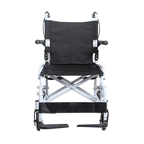 HLFBZ XXL Faltbarer Mini-Rollstuhl, behindertengerechter Reiserollstuhl, atmungsaktives Kissen mit Legierungshalterung, geeignet for behinderte ältere Menschen