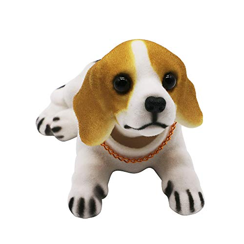 Mary Paxton Bobble Head,Car Decoration Nodding Dog Ornaments High Emulation Creative Dog Dashboard Crafts Dog Lover Gift for Car Vehicle Desk Tabletop Office Decor Baby Kids Toy (Beagle)