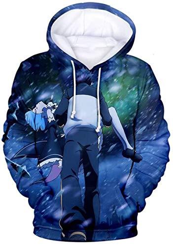 Sudadera unisex, La vida en otro mundo desde cero animado 3D de impresión con capucha suéter for hombre otoño invierno unisex Pareja camiseta de regalo caliente for el anime aficionados, 3, XXXXL