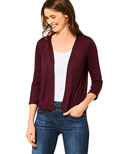 Cecil Damen 315145 TOS Short T-Shirtjacket Strickjacke, jostaberry red, Medium