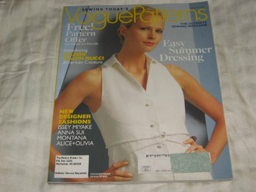 Vogue Patterns June/July 2008 Chado Ralph Rucci, Issey Miyake, Anna Sui, Montana, Alice + Olivia, Summer Fashions