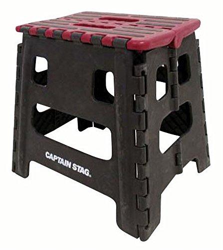キャプテンスタッグ(CAPTAIN STAG) 踏み台 ステップ 椅子 折りたたみ ステップ Mサイズ レッド UW-1507