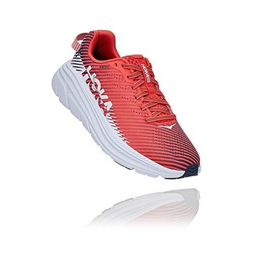 HOKA ONE ONE Women's Rincon 2 Running Shoe (Hot Coral/White,...