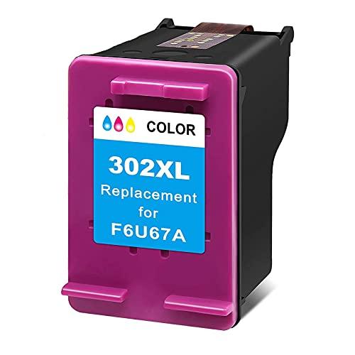 Ink E-Sale Remanufacturado 302XL para Cartuchos HP 302 302XL Compatibles con DeskJet 1110 2130 3630 1111 1112 1113 1114 2132 2134 2136 3632 Envy 4510 4512 4520 4522 OfficeJet 3830 4650,1 Tricolor