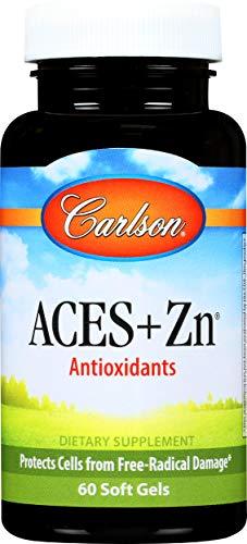 Carlson - ACES + Zn, Vitamins A, C, E + Selenium & Zinc, Cellular Health & Immune Support, Antioxidant, 60 Softgels