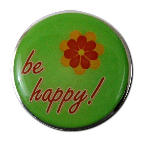 "Waschbeckenstöpsel Badewannenstöpsel Stöpsel Stopfen Excenterstopfen Abflussstopfen Bild Motiv ""Be Happy!"""