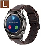 MroTech 22 mm Cinturino S3 Frontier Compatibile per Samsung Galaxy Watch 46mm/Gear S3,Huawei Watch 2 Classic/GT Active Elegant,Ticwatch PRO/e2/ s2, Fossil 22MM Cinturino di Ricambio Bande Pelle caffè