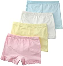 Jojobaby Baby Kids Girls' Cotton Lace Underwear Briefs 4-Pack Panties 2-4t S