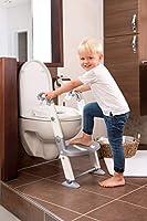 Preparazione al wc 3in1 da usare come vasino, riduttore per wc con scaletta o riduttore per wc senza scaletta, Adatto wc di altezza 38-42cm e con un'apertura di almeno 21 cm, Per bambini da 18 mesi a 3 anni, Peso max. 30kg Utilizzabile come vasino a ...