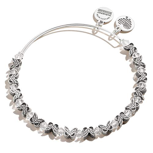 Alex and Ani Angel Wing Beaded Bracelet, Silver, one Size (A20EBAWBEADRS)