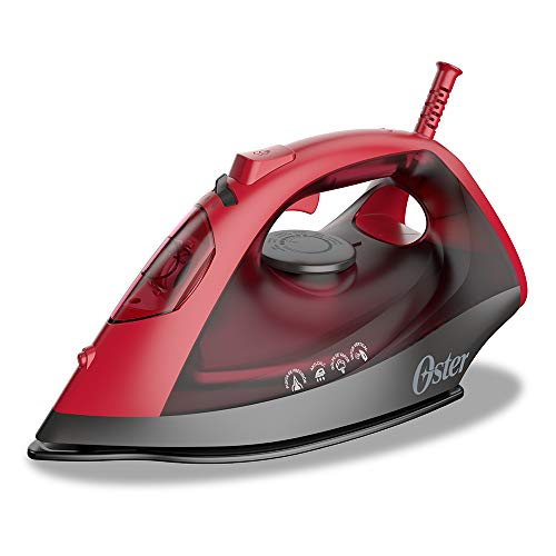Plancha de vapor Oster roja con suela antiaderente GCSTBS6051