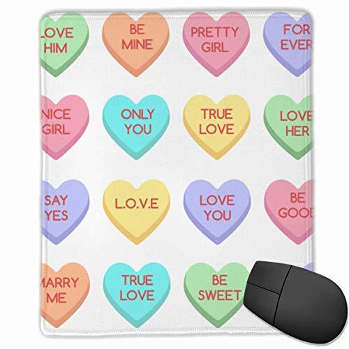 Sweet Heart Candy. Schatz-Bonbons isoliert auf weißem Hintergrund Konversations-Süßigkeiten für Valentinstag Valentinstag Sugar Food Hearts 1176589735 Mausmatte Niedliches Mauspad Gummibasis Mousepad