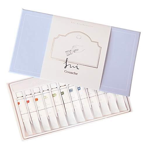 SUI Gouache Sets | Adorable Pastel Color 12 Watercolor Paint Set | Art Painting Supplies for Professional artists