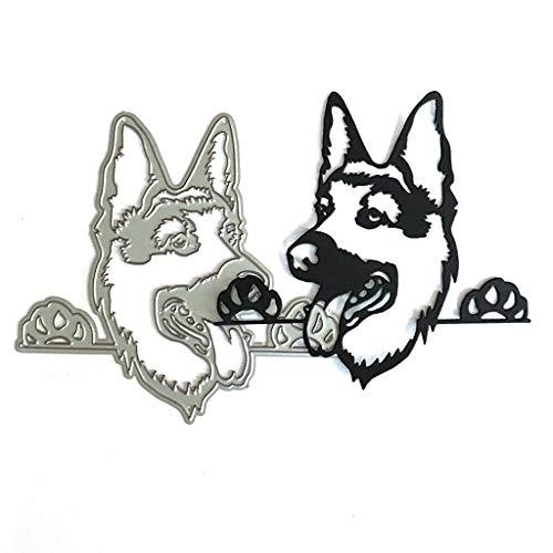 Frecher Hund Metall Stanzformen Stanzschablonen Schneiden Schablonen Prägeschablonen Für DIY Scrapbooking Album, Schablonen Papier, Sammelalbum Deko