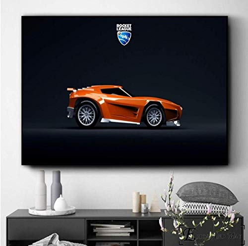 AJBB Canvas Posters and Prints Cars Game, Wall Art Picture Canvas Painting, For Living Room Home Decor Poster Prints Unframed-60X80Cm