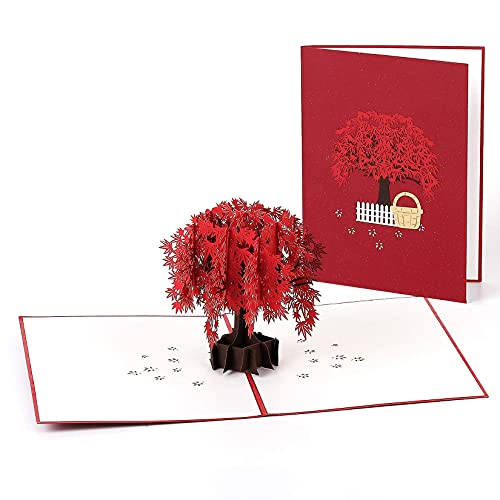 Maple Love Pop Up Card, 3D Popup Greeting Cards, for Mothers Day, Spring, Fathers Day, Graduation,...