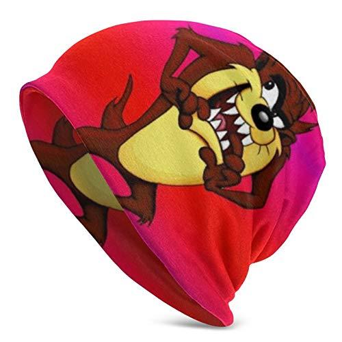 Tasmanian Devil Taz - Gorro de punto para adultos, unisex, diseño 3D de calavera, color negro