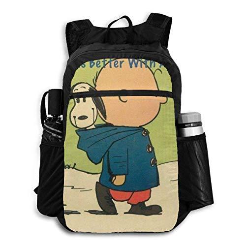 Mochila plegable de viaje con cremallera de Minnie Mouse Smile mochila de viaje escolar para hombres y mujeres adolescentes
