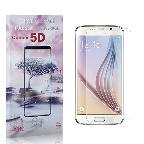 Conber [4 Pièces] Verre Trempé pour Samsung Galaxy S6, [9H Dureté][Haut Définition][sans Bulles] Ultra-résistant Film de Protection écran pour Samsung Galaxy S6
