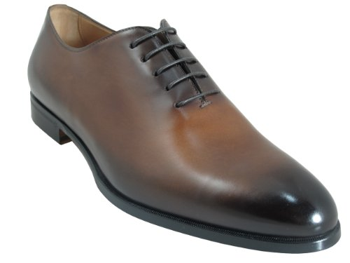 Doucals Men's 41190 Italian Lace Up Dressy/Casual Shoes, Brown Size 44