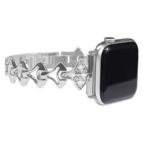 ONELANKS Pulsera de cristal brillante para mujer, compatible con Apple Watch Band de 42 mm, para iWatch de 44 mm, serie 6 SE, serie 4, serie 5, serie 3, bandas de 42 mm