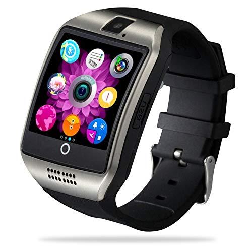 FENHOO Smartwatch, Voll Touchscreen Fitness Tracker für Damen Herren Kinder mit SIM Karte Slot, Fitnessuhr Sportuhr mit Schrittzähler Kamera Anruf SNS Schlafmonitor Stoppuhr für Android Handy (Silber)